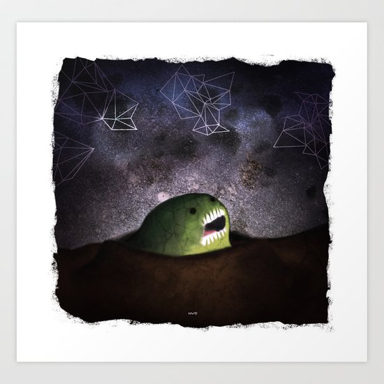 Asomandose Al Espacio Art Print