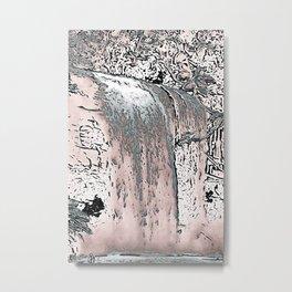 "series waterfall ""Cachoeira Grande"" IV Metal Print"