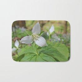 Sweet White Trilliums Bath Mat