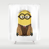 doctor who Shower Curtains featuring Doctor Who by Henrik Norberg