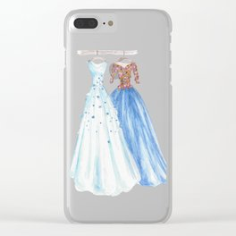 Two Dresses 3 Clear iPhone Case