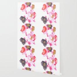 Watercolor Pink Black Flow | [dec-connect] 26. lesion Wallpaper