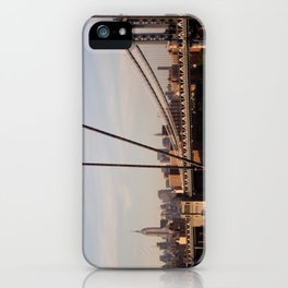 The Empire State Building and the Manhattan Bridge iPhone Case