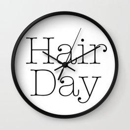 Hair Day Wall Clock