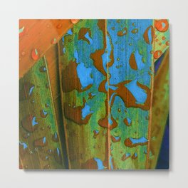 Tropical Raindrops Metal Print