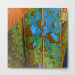 Tropical Raindrops Metal Print
