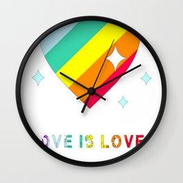 LOVE IS LGBT Wall Clock