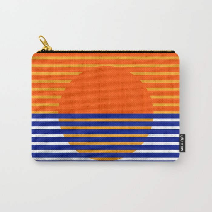 Orange Split Sun Carry-All Pouch