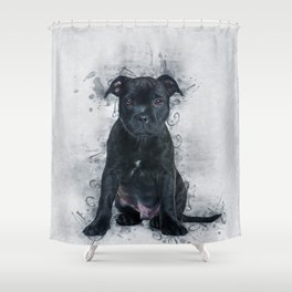 Staffordshire Bull Terrier Shower Curtain