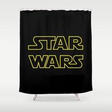 Star Logo Wars Shower Curtain