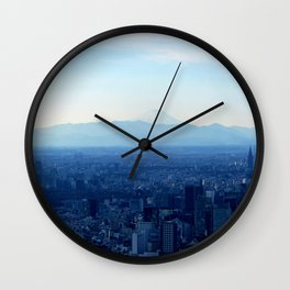 Fuji in the Distance Wall Clock