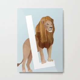 L - Lion Metal Print