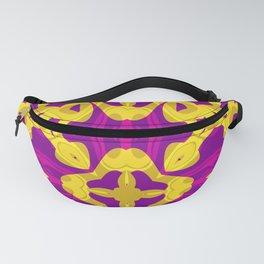 Yellow purple ,art Deco Fanny Pack