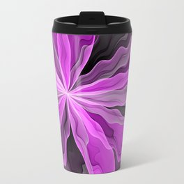 Abstract With Magenta, Modern Fractal Art Travel Mug