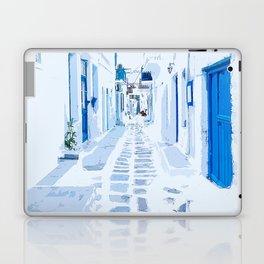 MyKonos Greece Watercolor Digital Painting Laptop & iPad Skin