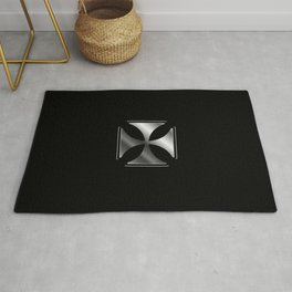 Glowing Cross Pattee symbol (Christianity) Rug