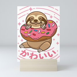 Kawaii Sloth Mini Art Print