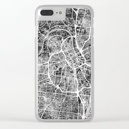 Nashville Tennessee City Map Clear iPhone Case