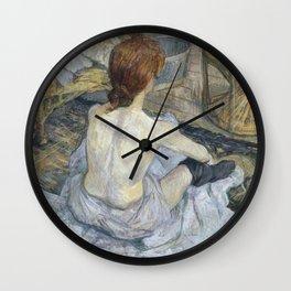 """Henri de Toulouse-Lautrec """"Rousse (La Toilette)"""" Wall Clock"""