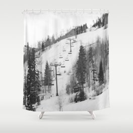 Chair Lifts at Vail Colorado Shower Curtain