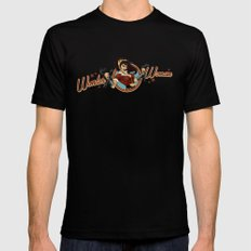 Wonder Bombshell Mens Fitted Tee Black X-LARGE