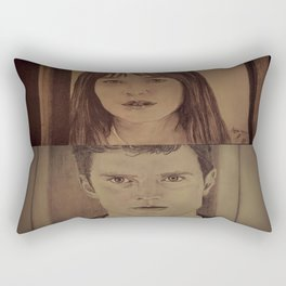 Christian and Ana elevator 2/2 - FIFTY SHADES OF GREY Rectangular Pillow