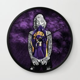Marilyn Monroe Los angeles Lakers with tattoos Wall Clock