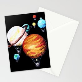 Hot Air Planet Stationery Cards
