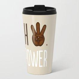 HiiiPower (w/text) : Chocolate Travel Mug
