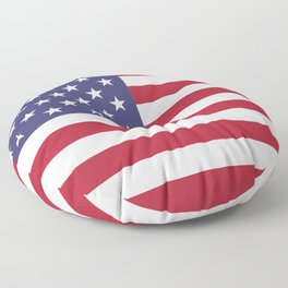USA flag - Hi Def Authentic color & scale image Floor Pillow