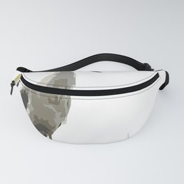 Side View Of A White Stork Isolated Fanny Pack