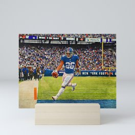 Giants Saquon Barkley Mini Art Print
