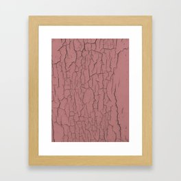 Pink cracked wall paint abstract art wall decor Framed Art Print