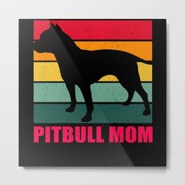 American Pit Bull Terrier Pitbull Mom Metal Print