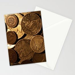 Cool Old Coins Stationery Cards
