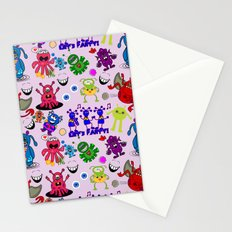 Monster Party Stationery Cards