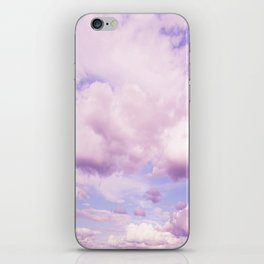 Pink Clouds In The Blue Sky #decor #society6 #buyart iPhone Skin