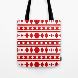 Tribal Red Pattern Tote Bag