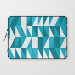 Blue triangulated geometric Abstract Pattern Laptop Sleeve