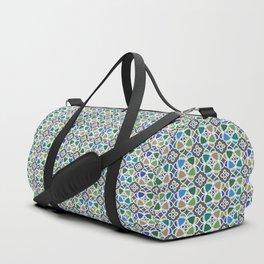 Moroccan Ceramic Tiles Mosaic Duffle Bag