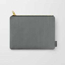 Dark Muted Green Grey Solid Color Inspired by Jolie Paint 2020 Color of the Year Legacy Carry-All Pouch