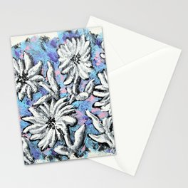 Spring Bloom by Mike Kraus - art white blue pink purple garden decor designer colorful valentines Stationery Cards