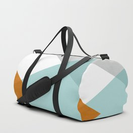 Geometrics - aqua & orange concrete Duffle Bag