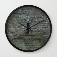 history Wall Clocks featuring History by Melia Metikos
