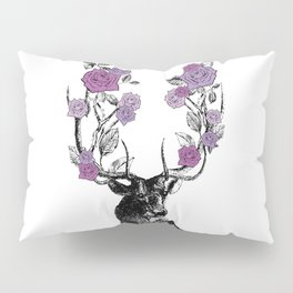 The Stag and Roses | Lilac | Purple Pillow Sham