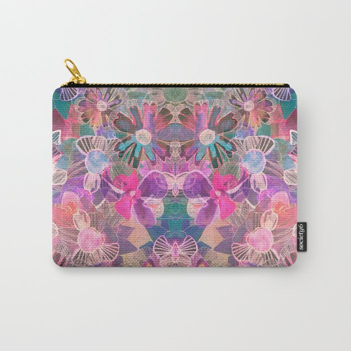 Marbled Garden  Carry-All Pouch