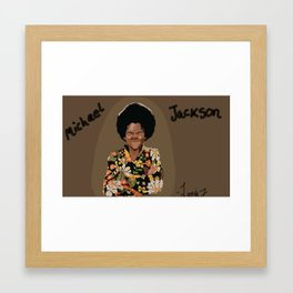 Young Michael Framed Art Print