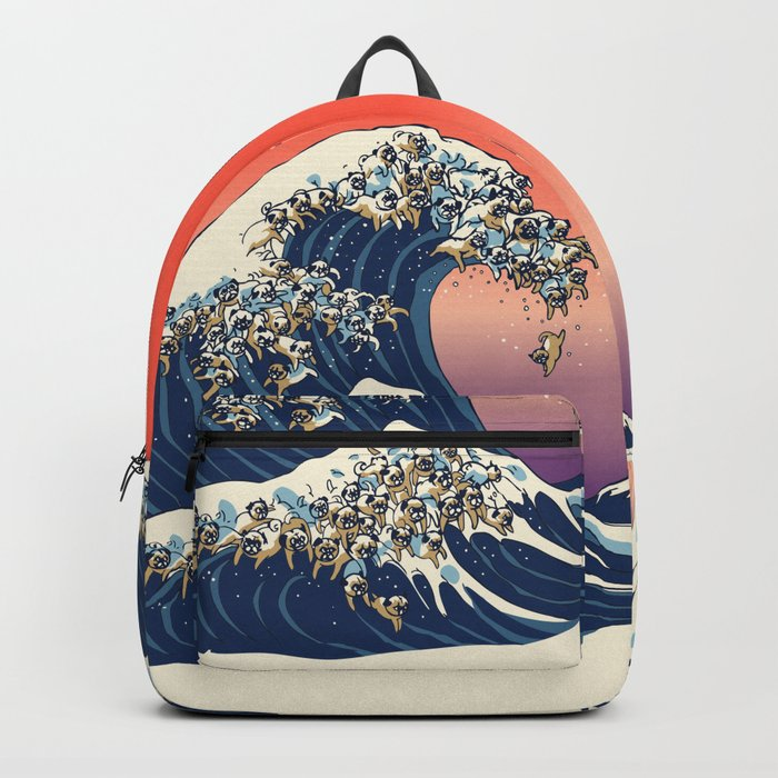 The Great Wave of Pug Rucksack