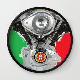 Portuguese Motorcycle Riders Wall Clock
