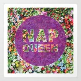 Nap Queen in Purple Art Print